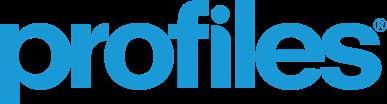 profiles logo in profiles blue