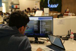 front end web developer at computer