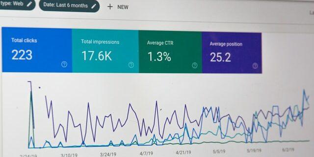 digital marketing metrics displayed in analytics screen
